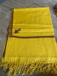 Embroidered Border Pashmina Hand Stole