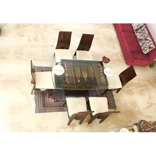 Glass Top 6 Seater Dining Table at Rs 40000  set  9e395c0f85ea