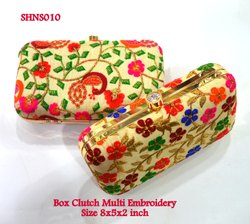 Clutch Multi Embroidery