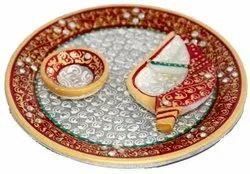 Wedding Gift Marble Pooja Thali
