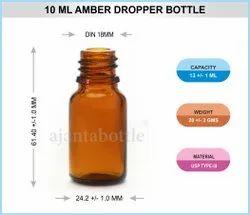 Glass Pharma Amber 10 mL Dropper Bottle