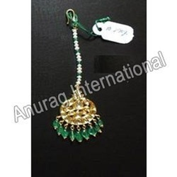 Green Emerald Maang Tikka