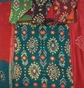 Female Silk Bandhani With Handwork Suit Material, Gsm: 100-150