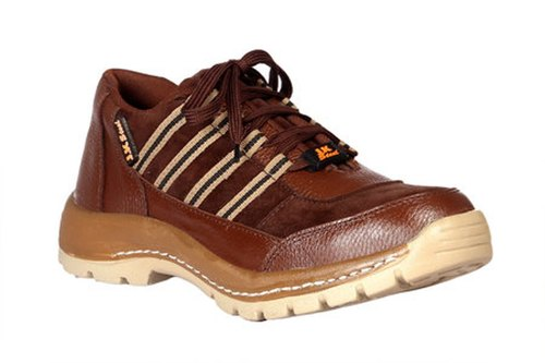 Jk Steel Men Brown Safety Shoes At