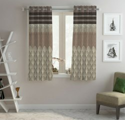 Polyster Multicolor Readymade Panel Curtains, For Door