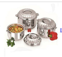 Stainless Steel Designer Serving Casserole Set