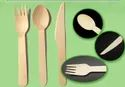 Individual Kraft Paper Wrapped Wooden Cutlery Pack With Napkins
