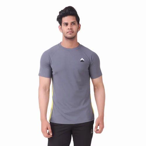 de83ea23e2b Mens Polyester Half Sleeve Plain T Shirt