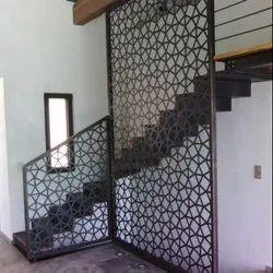 Polygon Geometrical design Stair Railing & Metal Wall Panel Laser cut
