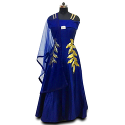 GOWN WITH DUPATTA PARTY WEAR FESTIVE WEAR WEDDING WEAR