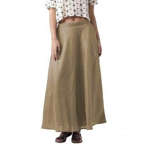 8bf7ecedb3 Women Chanderi Brown Long Skirt, Rs 189 /piece, Vastraa Fusion ...
