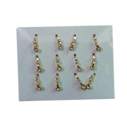 Brass Antique Gold Plated Imitation Nose Pin Rs 65 Packet Ekta