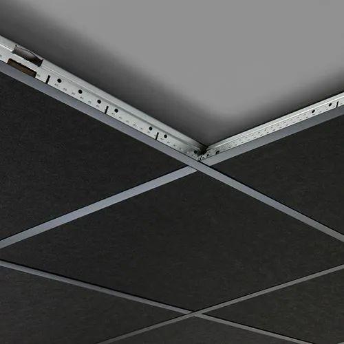 Black Fiberglass Acoustic Ceiling Tiles