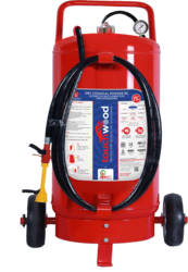 Higher Capacity 75 Kg DCP Trolley Mounted Fire Extinguisher
