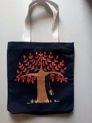 Canvas Warli Hand Made Paint Tote Bag