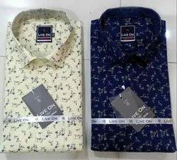 Slim Fit Men Printed Shirt