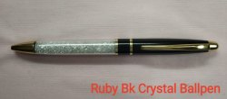 Ruby BK Crystal Ball Pen