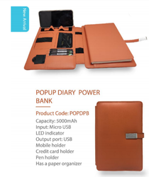 Popup Diary Power Bank