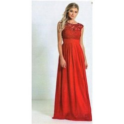 Red Chiffon One Piece Gown
