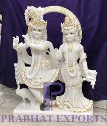 Iskcon Radha Krishna Marble Statue