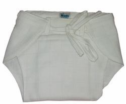 White Cotton Muslin Cloth String Diaper
