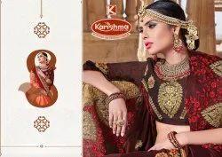 Heavy Embroidery Work Saree - Mandakini