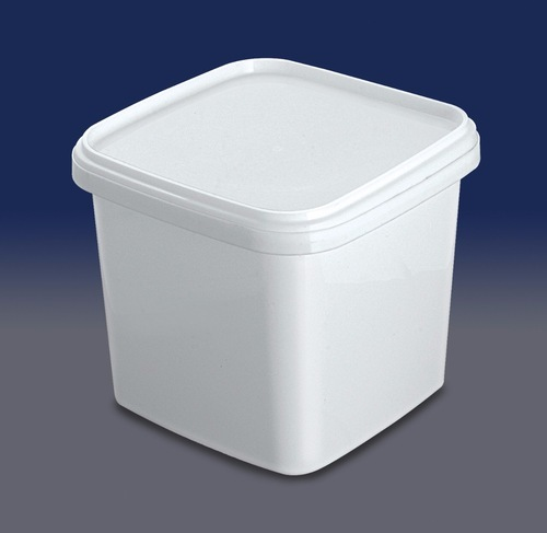 White Seleno Plastic Ice Cream Container Capacity 400ml To 1200 Ml