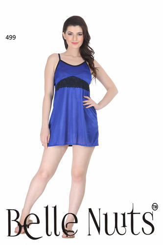 2019 best discount original Belle Nuits Navy Short Satin Night Slip
