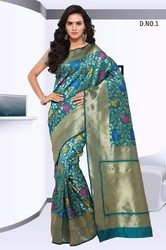 Sea Green Designer Silk Sarees