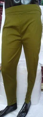 Ladies Lycra Cotton Regular Fit Pants