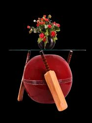 Cricket Bat And Bowl Shaped Center Table