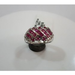 Ruby Sapphire Silver Finger Ring