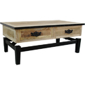 Iron Base Wooden Top Side Table