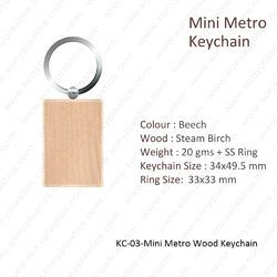 Wooden KeyChain-KC-03-MINI Metro