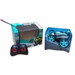 Blue Plastic Stunt Car Toys, For Playing