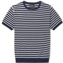 Mens Round Neck Knitted T-Shirt