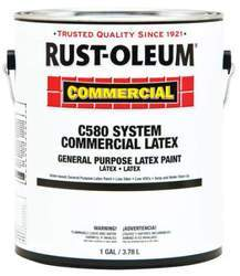Rust-Oleum Ethylene Vinyl Acetate Commercial C580 System Latex Paint - Bright White Eggshell, Packaging Type: Tin