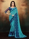 Indian Georgette Printed Saree