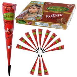 Ruby Color Instant Rubyo Color Henna Cone, for Personal