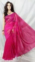 Party Wear Jori temple handloom saree, 6.3 m, hand weaved