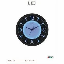 Capital Quartz LED Round Wall Clock, Size: 14x14 Inch