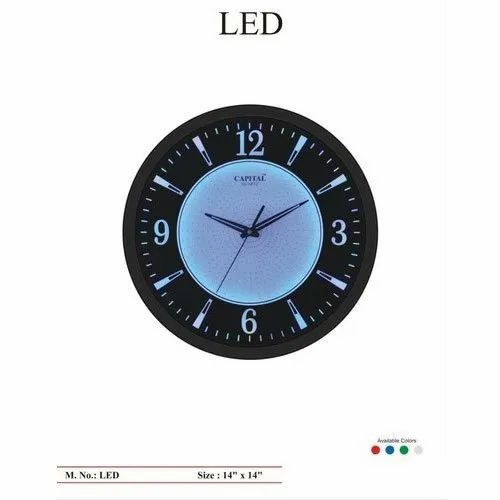 Capital Quartz Led Round Wall Clock