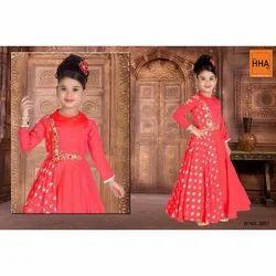 Girls Silk Kids Ethnic Wear