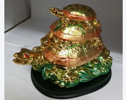Golden Polished Marble Tortoise Statue For Decoration