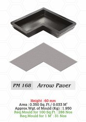 Rubber Arrow Paver Blocks Mould, Height: 60 mm