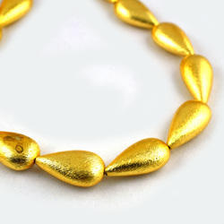 Center Drilled Drop Gold Plated Copper Beads