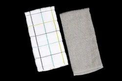 White & Grey Kitchen Dish Cloth