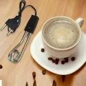 Electric Mini Small Coffee/Tea/Soup/Water/Milk Heater Boiler Immersion Rod,Silver (Pack of 1)