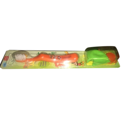 Orange Cartoon Toothbrush