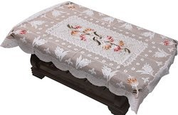 Cotton Net Cloth Table Cover (40 x 60 Inches)- White